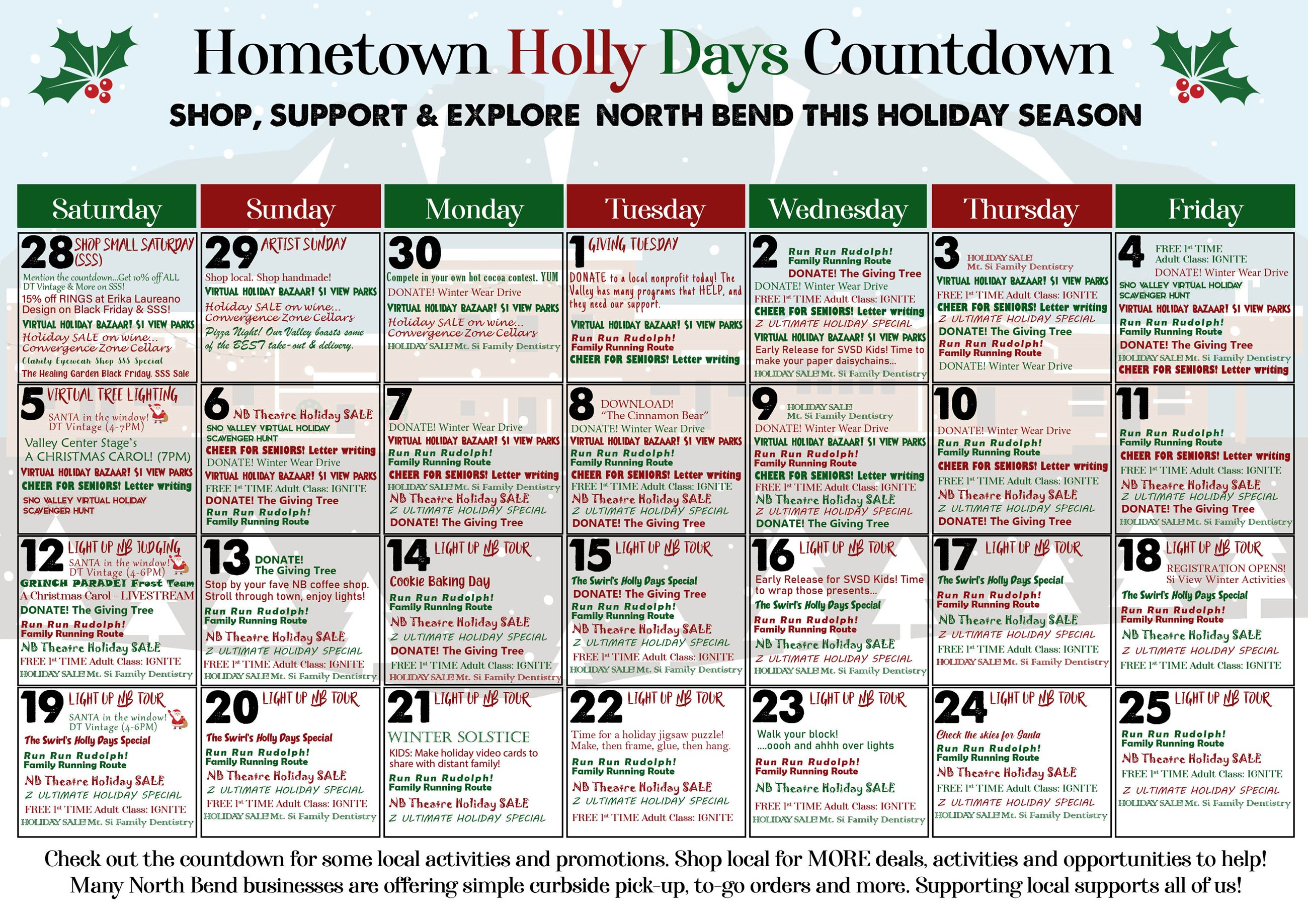 Holly Days Hometown Holiday Countdown Calendar