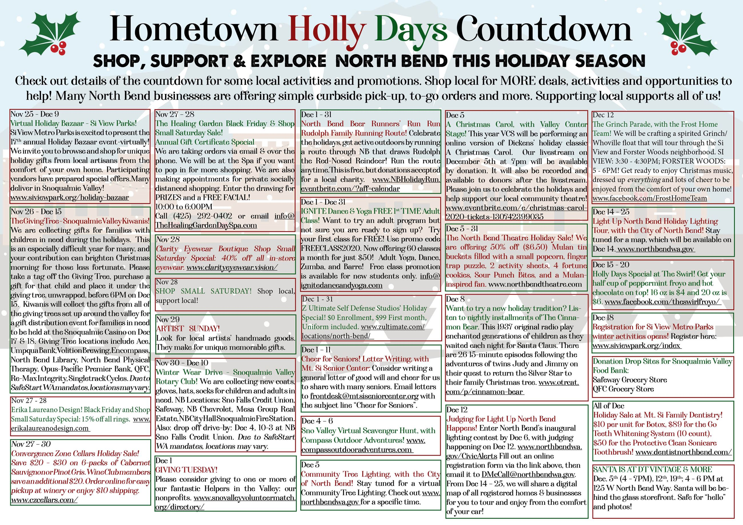 Holly Days Hometown Holiday Countdown Calendar2